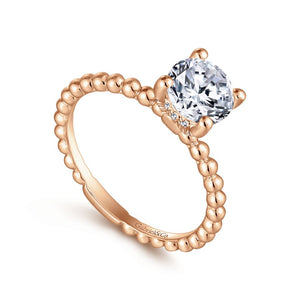 14KT Rose Gold Solitaire Ring