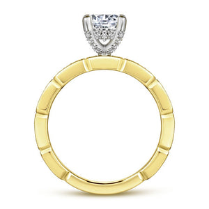 14KT White and Yellow Gold Two-Tone Engagement Ring