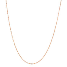 "Load image into Gallery viewer, Rose Gold Cable Chain, 1.0mm, 16/18"" adjustable"