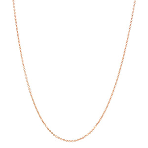 "Rose Gold Cable Chain, 1.0mm, 16/18"" adjustable"