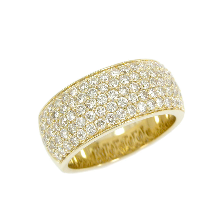 18KT yellow gold pave set band with 1.37ctw round diamonds, ...