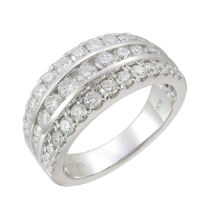 18KT white gold band with 1.39ctw round diamonds, H/I-SI (41...