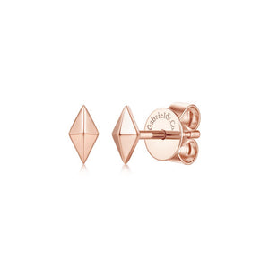 14K Rose Gold Pyramid Kite Shape Earrings