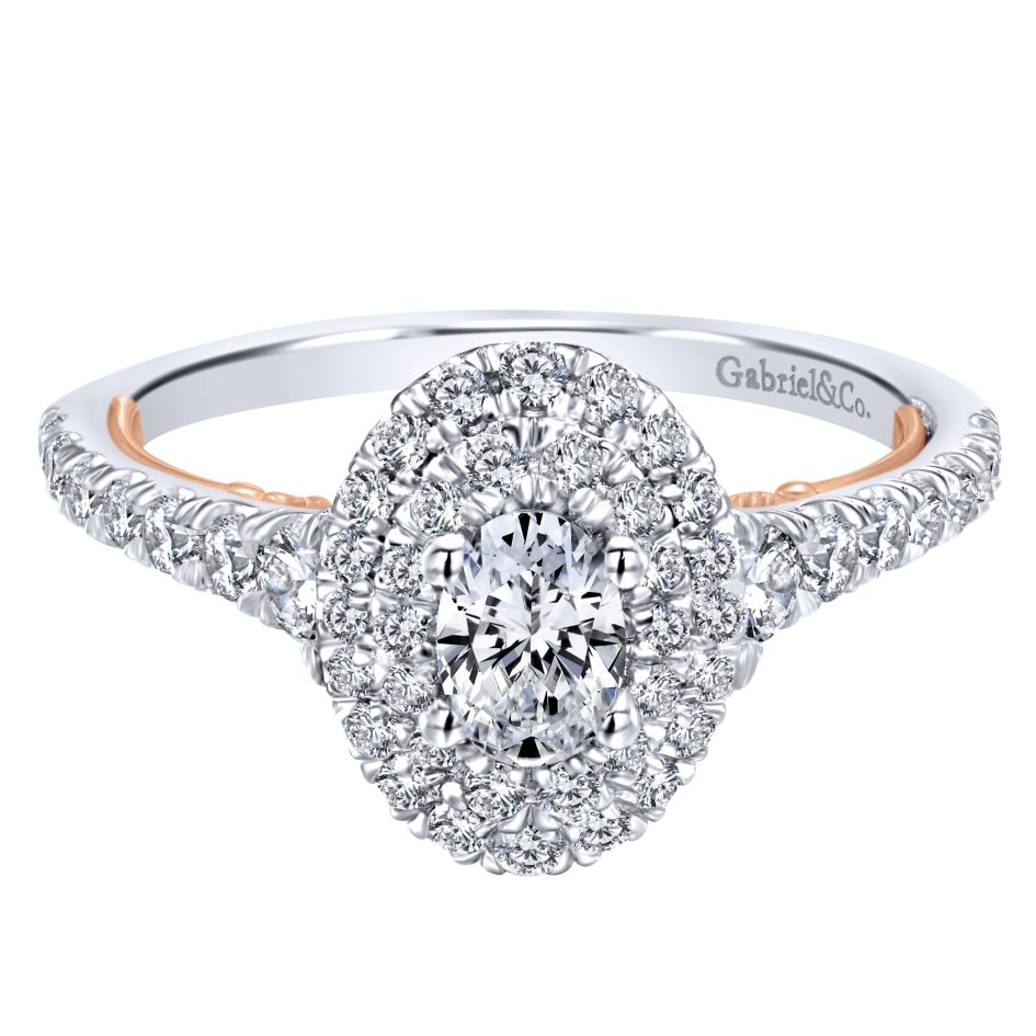 14KT White and Rose Gold Two-Tone Engagement Ring