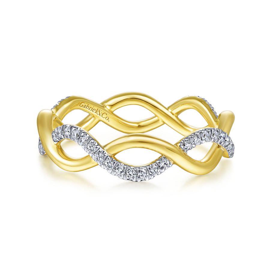 14KT Yellow Gold Eternity Band