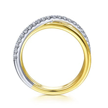 Load image into Gallery viewer, 14K White-Yellow Gold Diamond Ladies' Ring, 0.25ctw, H/I-SI,...