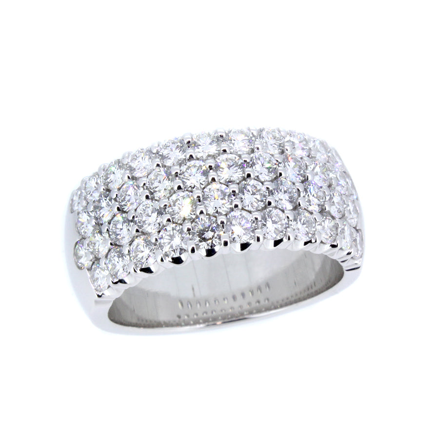 14KT white gold band with 2.03ctw round diamonds, G/H-VS2/SI...
