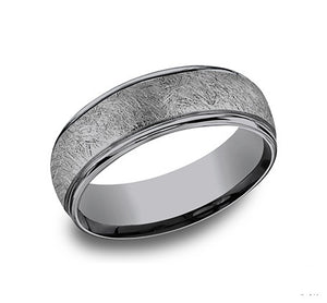 Tantalum band, swirl center, polished edges, 6.5mm, size 10