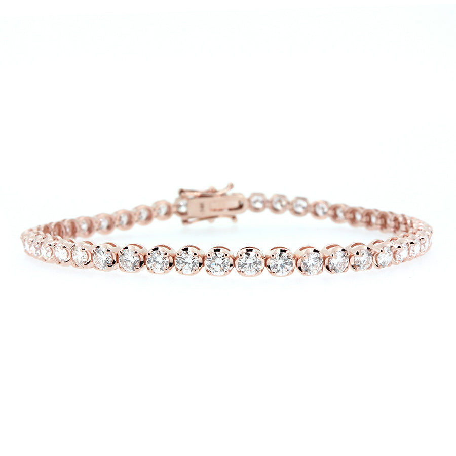 14KT rose gold tennis bracelet with 5.00ctw round diamonds, ...
