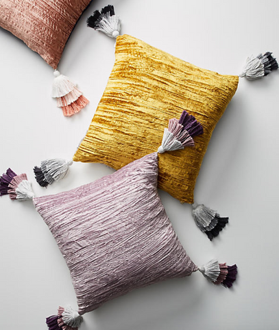 Anthropologie Velvet Pillows