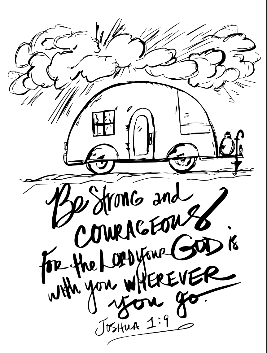 Free Strong and Courageous Coloring Pages