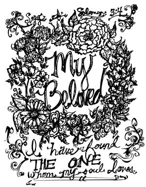 Free Beloved Coloring Pages