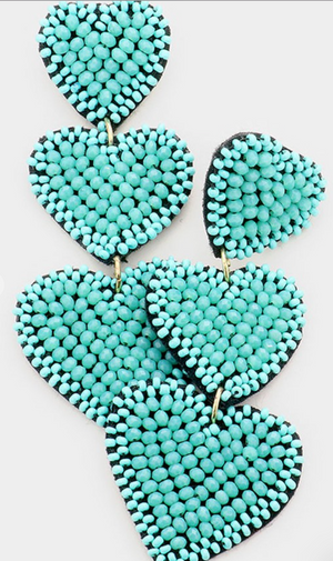 Vibrant Heart Earrings