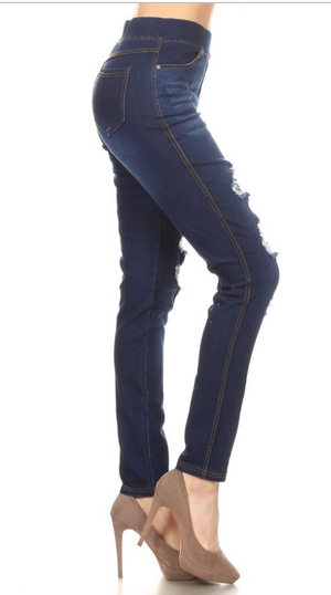 Trinity Distressed Jegging