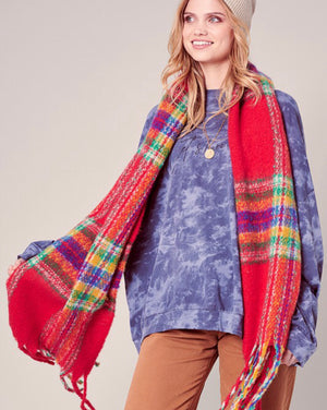 Joyful Plaid Scarf