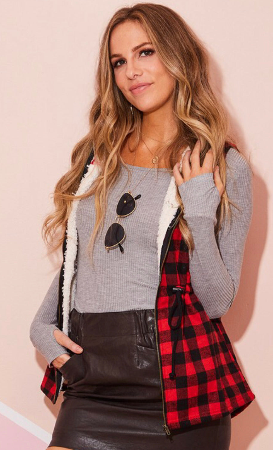 Curvy Buffalo Plaid Vest