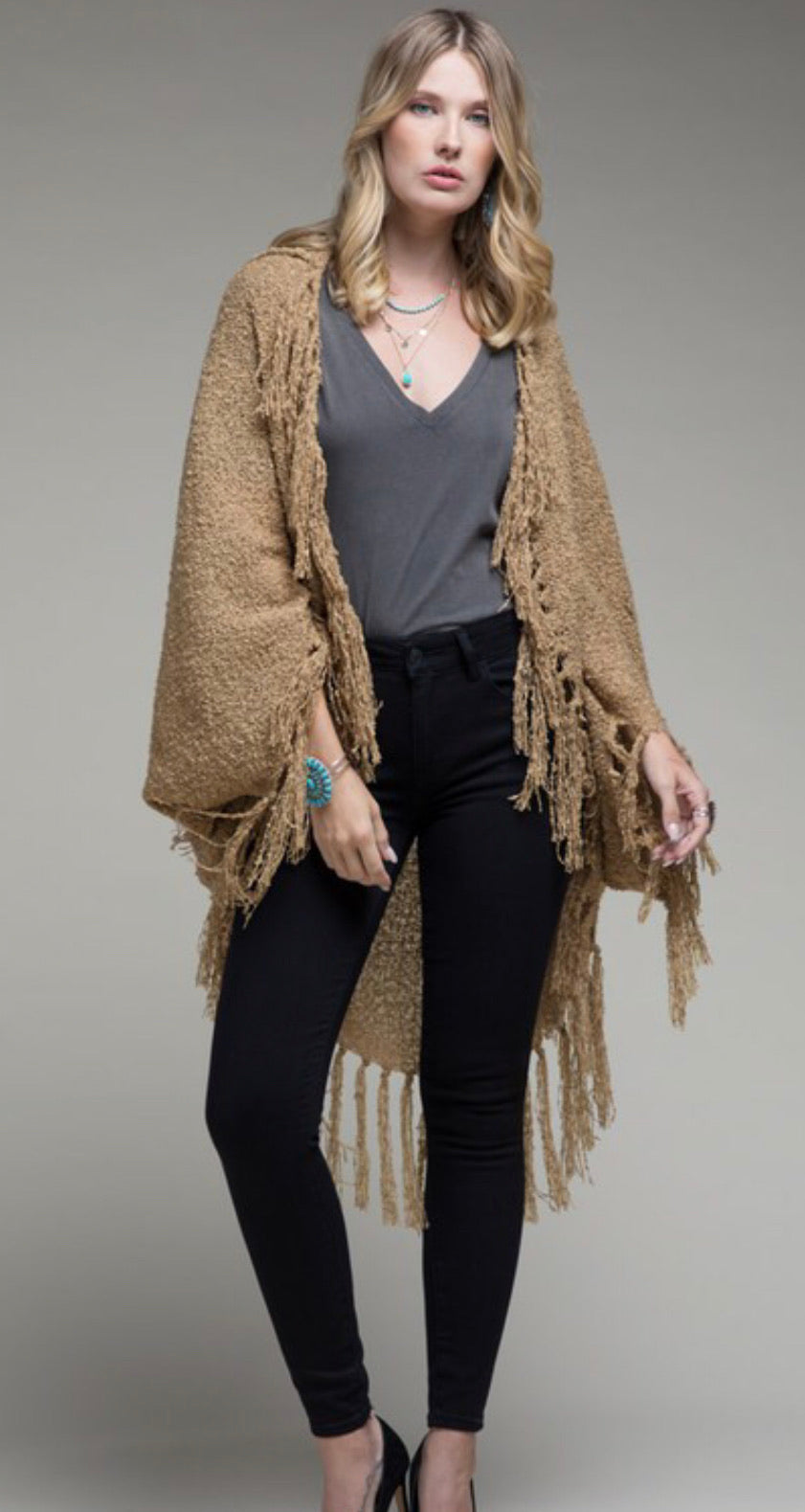 Knit Cocoon Wrap