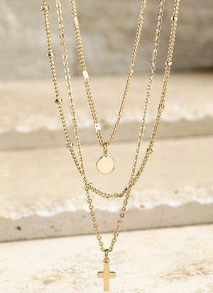 Layers Cross Necklace