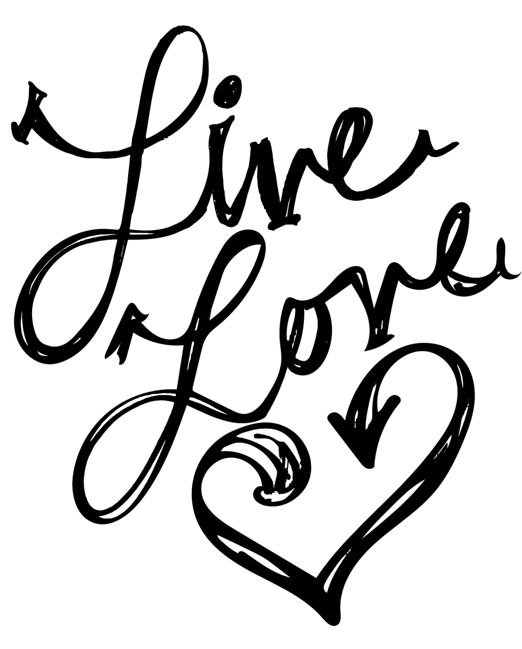 Free Live Love Coloring Pages