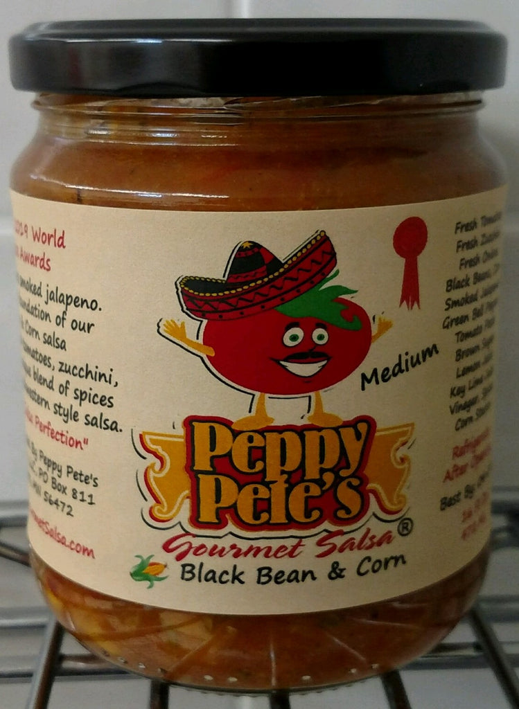 Peppy Pete's Gourmet Salsa - Black Bean & Corn - 16 oz