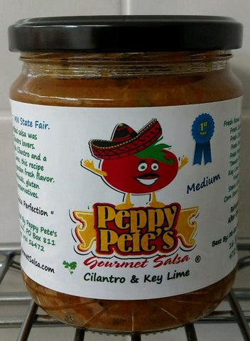 Peppy Pete's Gourmet Salsa - Cilantro & Key Lime - 16 oz