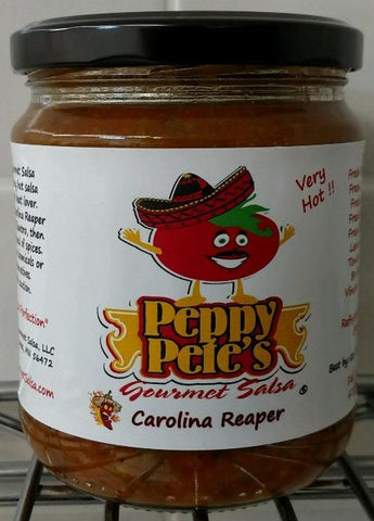 Peppy Pete's Gourmet Salsa - Carolina Reaper - 16 oz