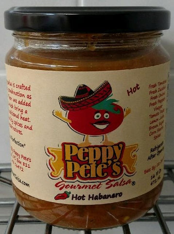 Peppy Pete's Gourmet Salsa - Hot Habanero - 16 oz