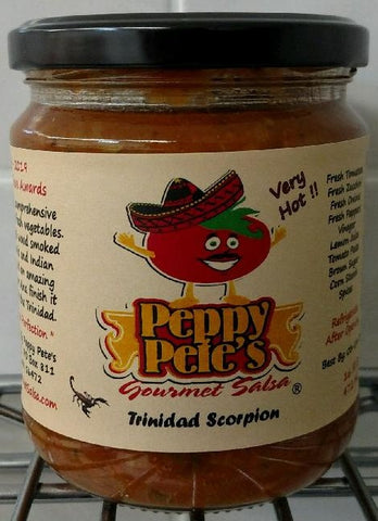Peppy Pete's Gourmet Salsa - Trinidad Scorpion - 16 oz