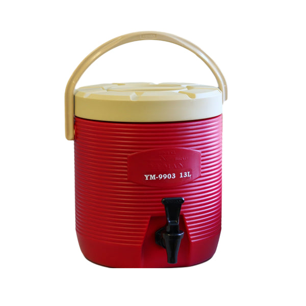 13L Round Thermo Tank - Red   (YM-9903)   13L 圓保溫茶桶 - 紅 (附內蓋)