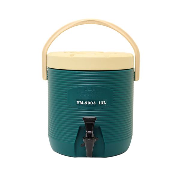 13L Round Thermo Tank - Green  (YM-9903)  13L 圓保溫茶桶 - 綠  (附內蓋)