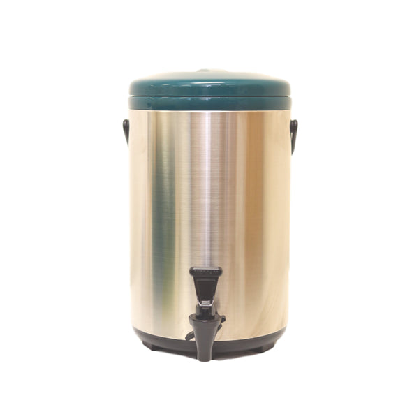 12L Stainless Steel Thermo Tank - Green (YM-1105)  12公升綠色不銹鋼綠保溫茶桶