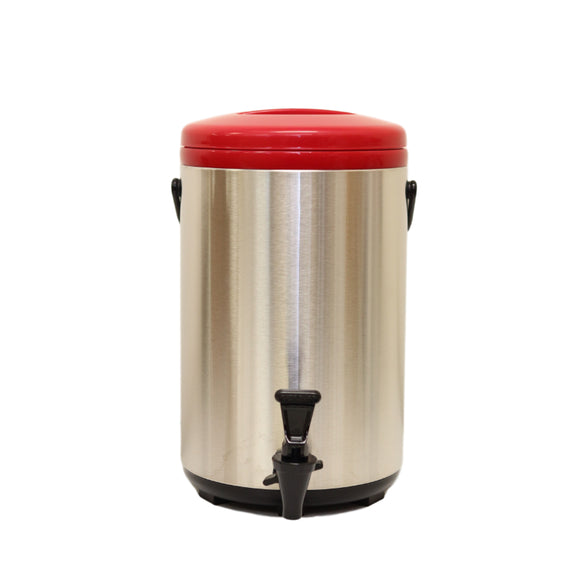 12L Stainless Steel Thermo Tank - Red (YM-1105)  12公升紅色不銹鋼保溫茶桶