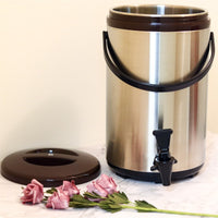 12L Stainless Steel Thermo Tank - Brown (YM-1105)  12公升棕色不銹鋼保溫茶桶