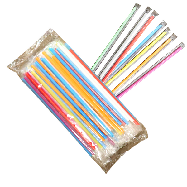 8 inches Drink Straw (Single Wrap), Insert Cut.  8 inches 饮料单支斜口吸管(独立包装)