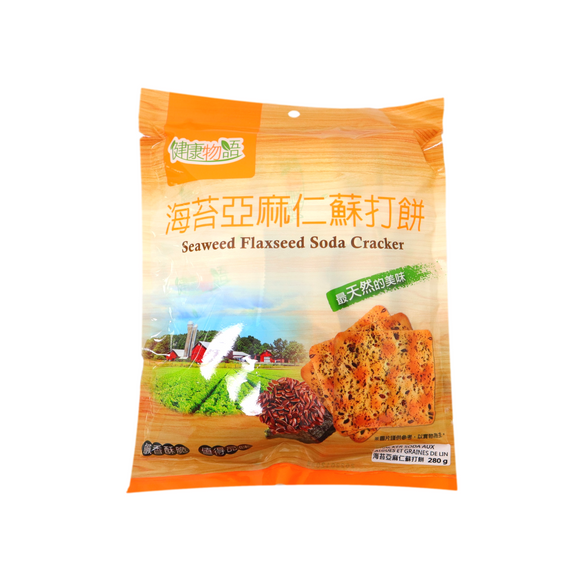 Seaweed Flaxseed Soda Cracker 健康物語
