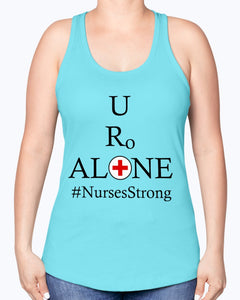 Nurses Design on Next Level Ladies Racerback Tank