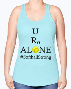 Softball Design on Next Level Ladies Racerback Tank