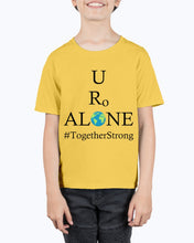 Load image into Gallery viewer, Global Design #TogetherStrong on Hanes Youth Beefy-T