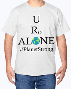 Global Design #PlanetStrong on Hanes Tagless T-Shirt