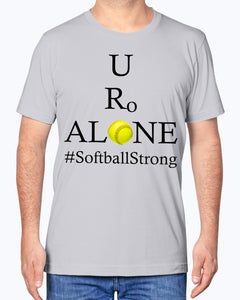 Softball Design on Bella + Canvas Unisex T-Shirt