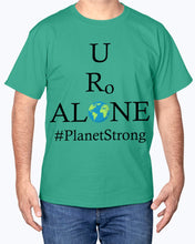 Load image into Gallery viewer, Global Design #PlanetStrong on Hanes Tagless T-Shirt