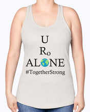 Load image into Gallery viewer, Global Design #TogetherStrong on Next Level Ladies Racerback Tank