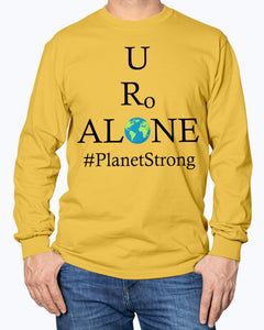 Global Design #PlanetStrong on Gildan Long Sleeve T-Shirt