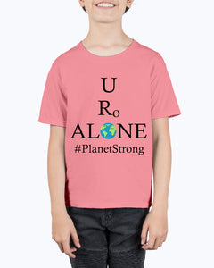 Global Design #PlanetStrong on Hanes Youth Beefy-T