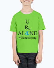 Load image into Gallery viewer, Global Design #PlanetStrong on Hanes Youth Beefy-T