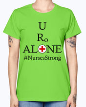Load image into Gallery viewer, Nurses Design on Gildan Ladies Missy T-Shirt