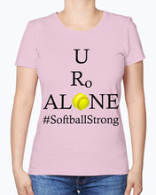 Load image into Gallery viewer, Softball Design on Fruit of the Loom Ladies Heavy Cotton T-Shirt