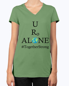 Global Design #TogetherStrong on Bella Ladies V-Neck