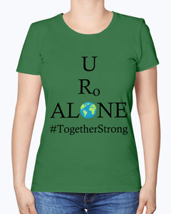 Global Design #TogetherStrong on Fruit of the Loom Ladies Heavy Cotton T-Shirt