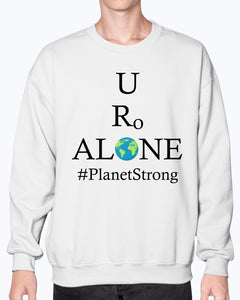 Global Design #PlanetStrong on Gildan Sweatshirt - Crew